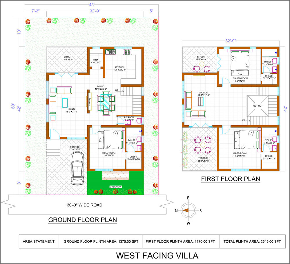 West facing bliss villas image