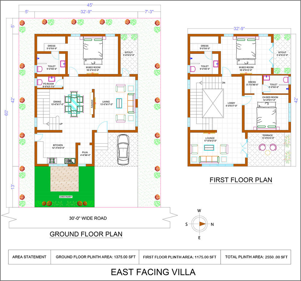 East facing villas at Iris luxury homes
