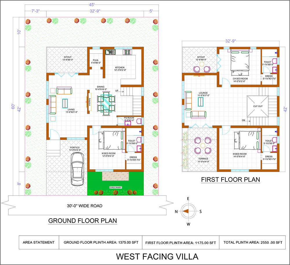 West facing villas in Iris luxury homes